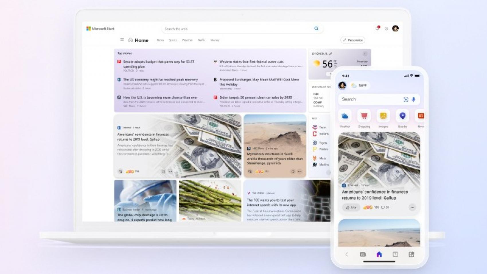 Microsoft представила Start – персонализированную новостную ленту